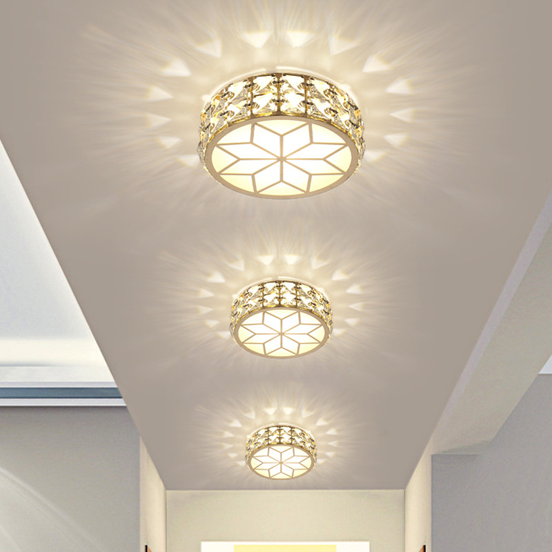 Warm White LED crystal ceiling lamp Cold White aisle ceiling decorative lights Embeded / Surface mounted lamps ingdoor lighting