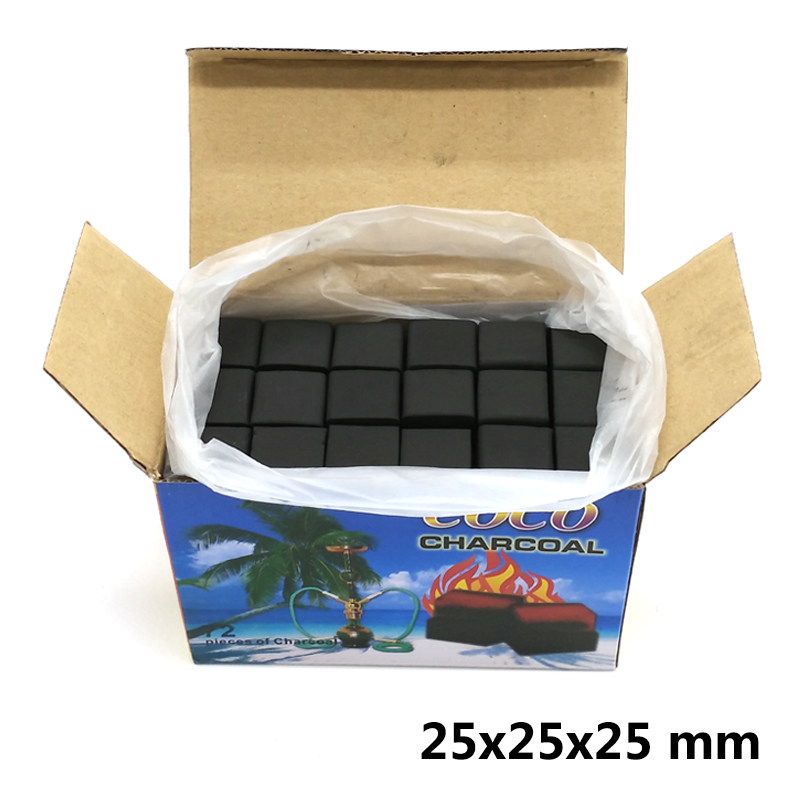 72 pcs (25*25*25mm) COCO Natural Shisha Charcoal,Slow Burning Coal For Hookah Water Pipe / Sheesha / Chicha/Narguile Accessories