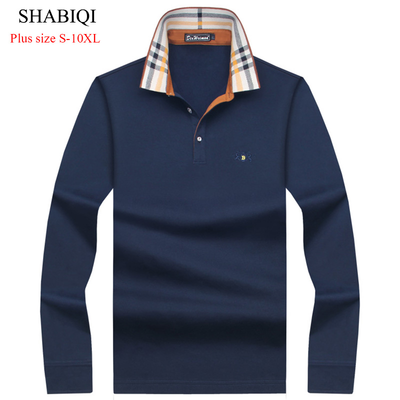 2019 Hot Sale Men's British Fashion Men's Thicker Casual Slim Long Sleeved Men   Polo   Shirt Turn-down Collar Mens   Polo   Shirts