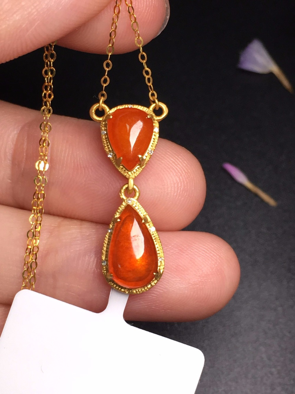 503 Fine Jewelry Pure 18 K Yellow Gold Jewelry 100% Natural Burmes Red Yellow Gemstone Pendant Necklace Fine Pendants Necklaces503 Fine Jewelry Pure 18 K Yellow Gold Jewelry 100% Natural Burmes Red Yellow Gemstone Pendant Necklace Fine Pendants Necklaces