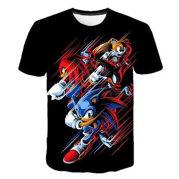 Kids 3D Cartoon Sonic Game Print T-shirts Costume Boys T Shirt Girls Summer T-shirt Clothing Children Tee Tops Clothes 1