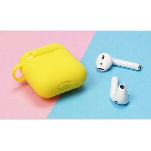 Image 5 - Śliczne żółty silikon słuchawki Case dla Apple Airpods i7 i10 TWS słuchawki z bluetooth Case akcesoria do słuchawek na prezenty