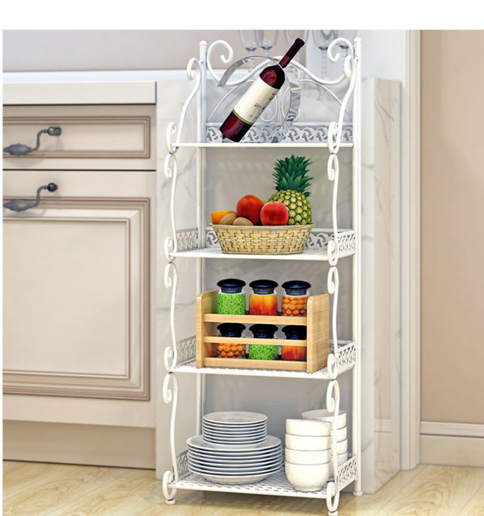 Multifunction Storage Racks Shelf Bathroom/bedroom/refrigerator Side Shelves  Iron Art Kitchen Storage Holders House Organizer