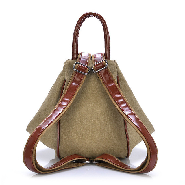 Fashionable Canvas Backpack For Women – Several Colors Available