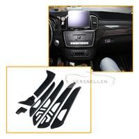 7 шт. углеродного волокна внутренняя часть для Mercedes Benz G Class W463 GL X166 GLE M класс сухой углеродного волокна внутренняя отделка крышки
