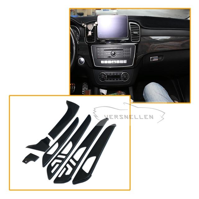 7pcs Carbon fiber Interior Part For Mercedes Benz G Class W463 GL X166 GLE M Class Dry Carbon Fiber Interior Trim Cover