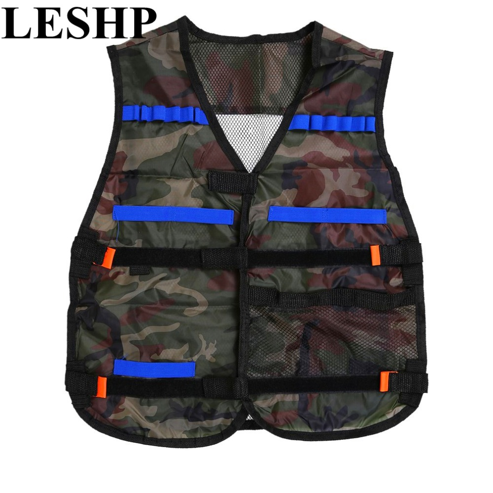 LESHP Tactical Hunting Vest Kit For Nerf N-strike Elite Games Camping Military Adjustable strap storage pockets colete tatico бластер hasbro nerf n strike elite accustrike alphahawk оранжевый серый