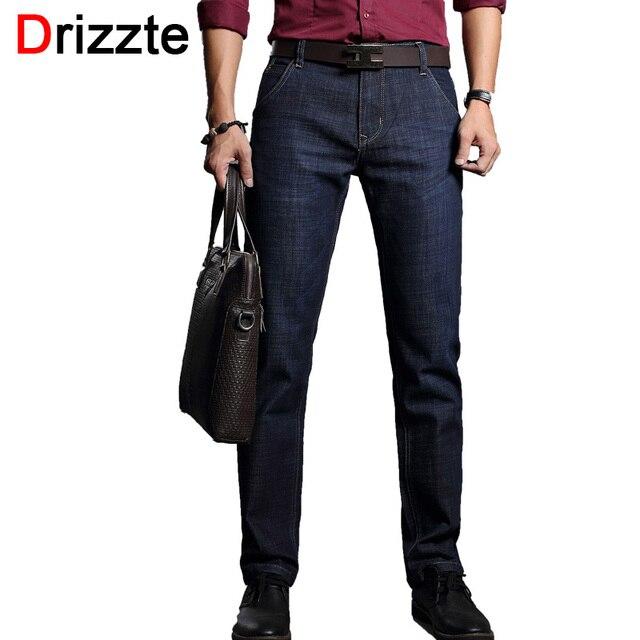 1532ba6fd86c Drizzte Hommes de Jeans Bleu Foncé Denim Affaires Slim Fit Robe Jeans taille  30 32 34