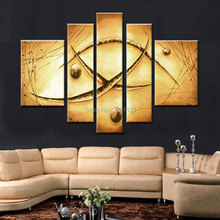 hand-painted oil wall art Yellow soil color canvas painting picture abstract home decoration on retro