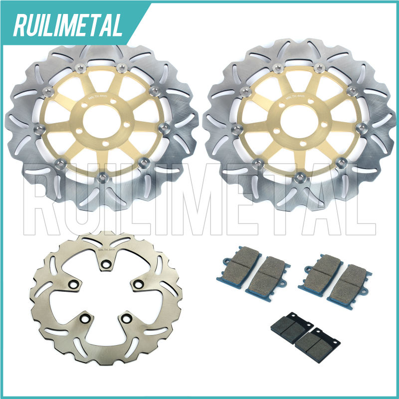 Front Rear Brake Discs Rotors Pads Set for KAWASAKI ZXR 750 ZXR-750 ZXR750 89 90 91 92 93 94 95 NINJA1991 1992 1993 1994 1995 midea мк 17s18е нерж сталь