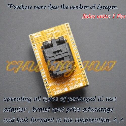 IC TEST QFN8 to DIP8 Programming Adapter WSON8 DFN8 MLF8 ic test socket size=5x6mm