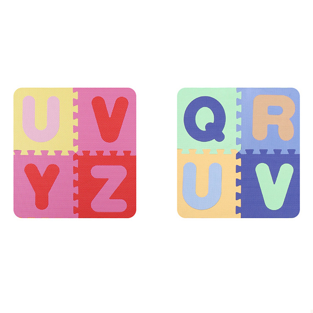 Tapis de jeu de bébé de modèle d'alphabet avec des carreaux de plancher de mousse de barrière tapis rampant pour le tapis d'enfant de bébé avec la barrière jouets d'enfants jeu de Puzzle - 5