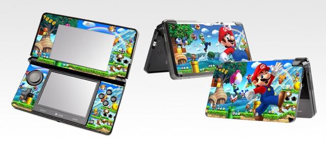 300 Super Mario Vinyl Skin Sticker Protector For Nintendo 3DS Skins Stickers