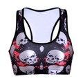 Ropa Mujer New Seamless Sportswear Bra 3D Skull Print Funny Crop Top Vest Stretch Bras Shapewear Padded Tops Tank Vest for Woman