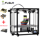 2019 NEW 3D Printer Flsun Dual Extruder Large Printing Size 260*260*350mm Auto Leveling Heated Bed TFT Wifi