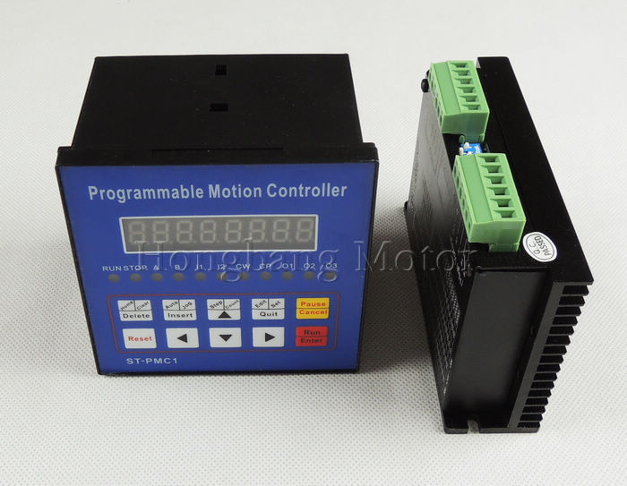 CNC 1-axis controller kit,Stepper motor Single axis motion controller programmable ST-PMC1+ST-M5045 driver replace M542,2M542