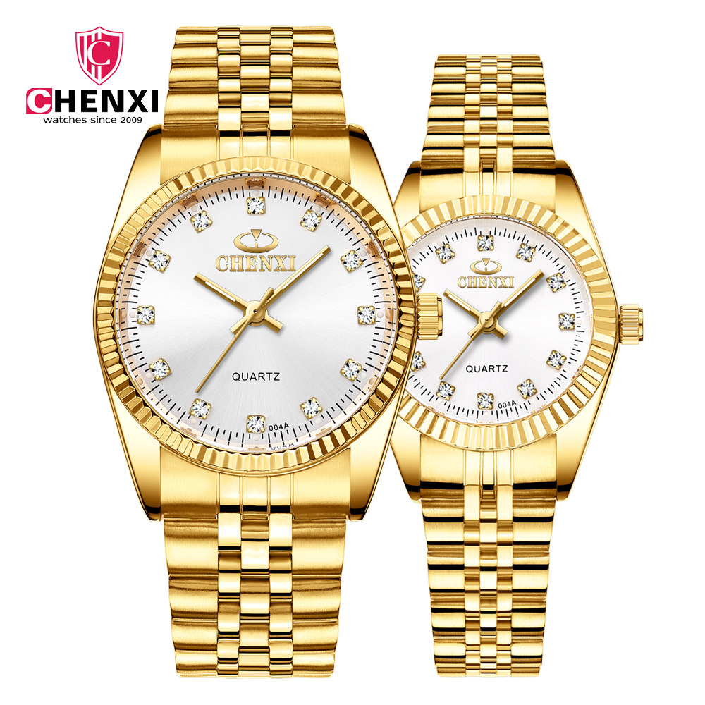 couple watch Japan imported movement quartz Wrist Watch fashion 2019 stainless steel Band waterproof unisex watches CHENXI brand