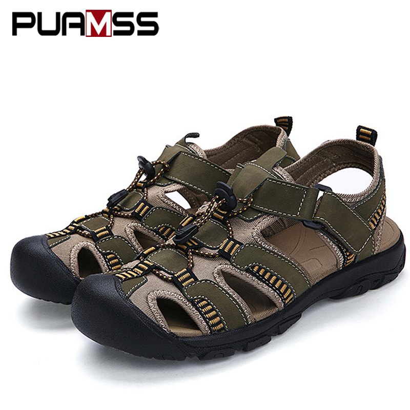 Lovely Zunyu 2019 Summer New Leather Outdoor Shoes Men Sandals For Male Casual Classic Water Walking Beach Sneakers Sandals Size 48 Fashionable Style; In