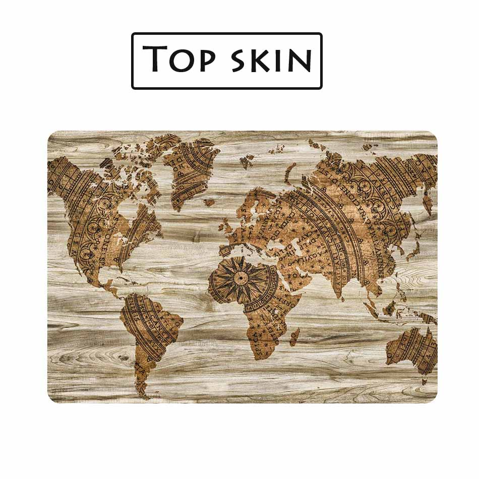 Wood world map grain laptop skin sticker decal for macbook sticker wood world map grain laptop skin sticker decal for macbook sticker pro air retina 11 12 13 15 inch mac hp protective cover skin in laptop skins from gumiabroncs Choice Image