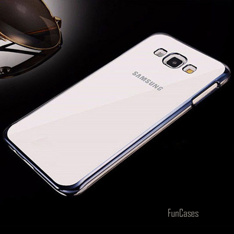 Luxury Ultra Thin Slim Plating Clear TPU Case For Samsung Galaxy J1 J5 J7 2016 J120F J51 ...