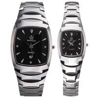 HK Crow Reginald Authentic Calendar Quartz Tungsten Steel Couple Fashion Lovers Watches Men Women Quartz Wristwatches