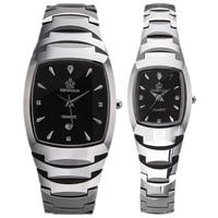 HK Crow Brand Authentic Calendar Quartz Tungsten Steel Woman Man Couple Fashion lovers watches men Business Quartz Wristwatches