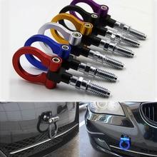 Dongzhen Универсальный Гоночный буксировочный автомобиль Буксировочный Крюк подходит для BMW E46 E81 E30 E36 E90 E91 Европейский автомобиль авто прицеп кольцо автомобильные аксессуары