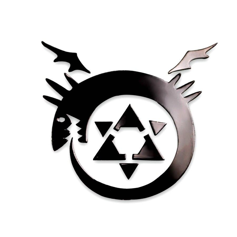 Fullmetal Alchemist Anime Sticker DIY 3D Metal Decals Stickers For Mobile Phone Sticker For Laptop Stiker Kids Sticker Toys