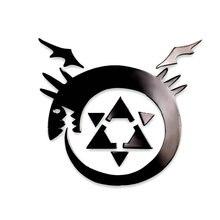 Fullmetal Alchemist Anime Sticker DIY 3D Metal Decals Stickers for Mobile Phone Laptop Stiker Kids toys