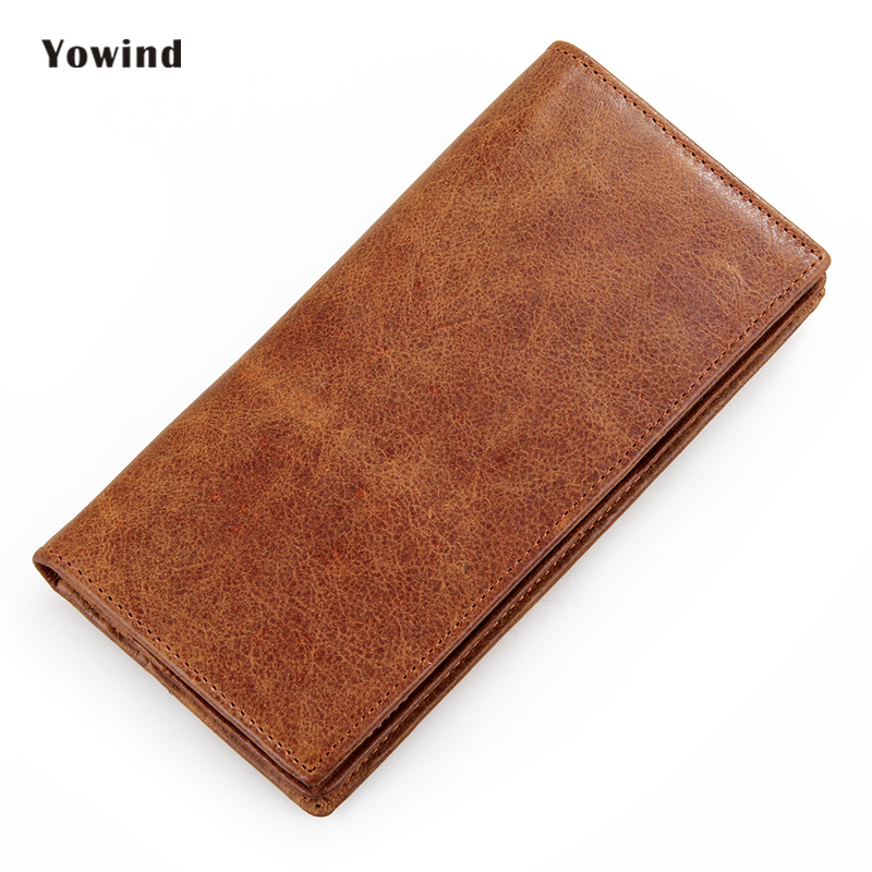 2017 New Mens Wallet Leather Genuine Luxury Brand Long Purse Card Holders Fashion Super Thin Cow Male Wallets smirnoff slim genuine leather wallet case hand made custom name hasp simple style mens wallet super thin card purse mini wallet