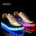 GRITION Световых Обувь 7 Цвета в 1 LED Загораются Обувь для Женщин Взрослых Красочные Светящиеся Обувь