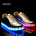 GRITION Shining LED Shoes  7 Colors in 1 LED Light Up Shoes for Women Adults Colorful Luminous Shoes