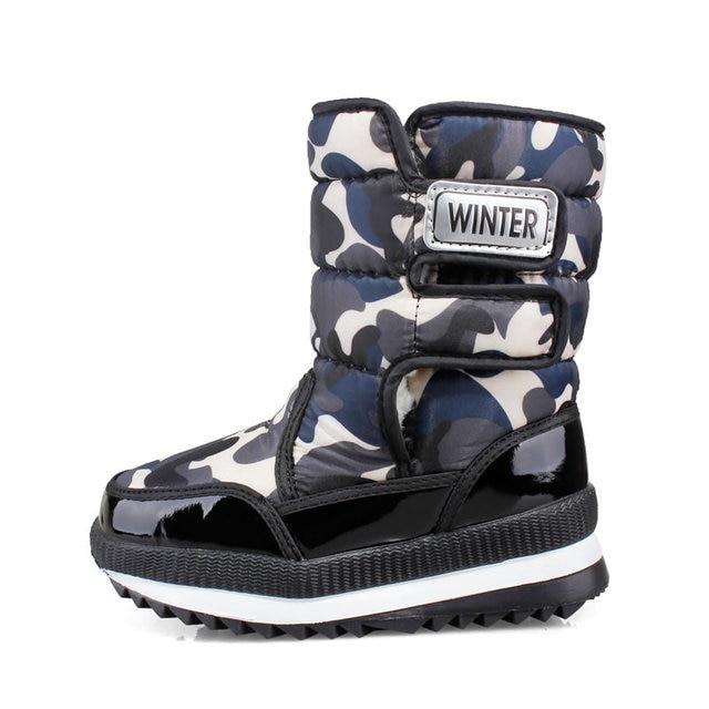 f70881d8a Дети Плюшевые Сапоги и ботинки для девочек высокое качество  Водонепроницаемый Обувь для девочек и Зимние сапоги