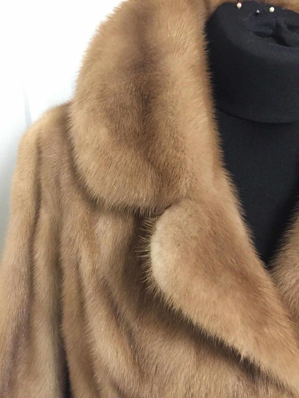 Arlenesain Personnalisé Brun Chunky De Camel Magnifique Veste Mode Nouvelle Fourrure Contraste Femmes Vison 2019 rSrqxadwI