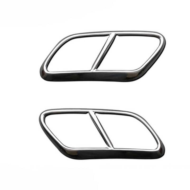 Для Volvo XC90 S90 XC60 2014-2019 Автомобильный задний двойной глушитель концевые наклейки на трубу крышка планки аксессуары нержавеющая сталь 2 шт