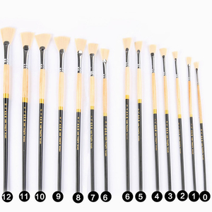 Image 4 - High Strength 13pcs Luxury Nylon Hair Oil Painting Brush Set Watercolor Landscape Fish Tail Fan Type Outline Paint Writing Brush