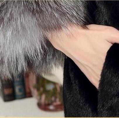Femme Fourrure Faux Q1018 Taille Femmes La Veste Manteau De Outwear Moelleux Hiver Artificielle 2019 Plus awRxq1PPn