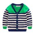 girls Sweaters 2-15 years 2016 Autumn/winter kids brand clothing children Cotton O-neck V-neck stripe cardigan sweater  Y50