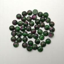 Модные 50 шт/лот epidote натуральный камень Круглый Шарм 8 мм