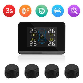Wireless Car Tire Pressure Alarm Monitor System TPMS Tire Pressure Sensor with 4 External Sensors