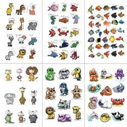 Wyuen мультфильм emoji детей Временные татуировки Стикеры Водонепроницаемый Мода поддельные Для тела Книги по искусству татуировки 9.8x6 см дети