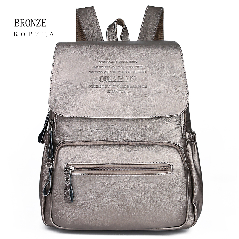 HTB1TD9gRVzqK1RjSZFoq6zfcXXa7 2019 Women Leather Backpacks High Quality Ladies Bagpack Luxury Designer Large Capacity Casual Daypack Sac A Dos Girl Mochilas
