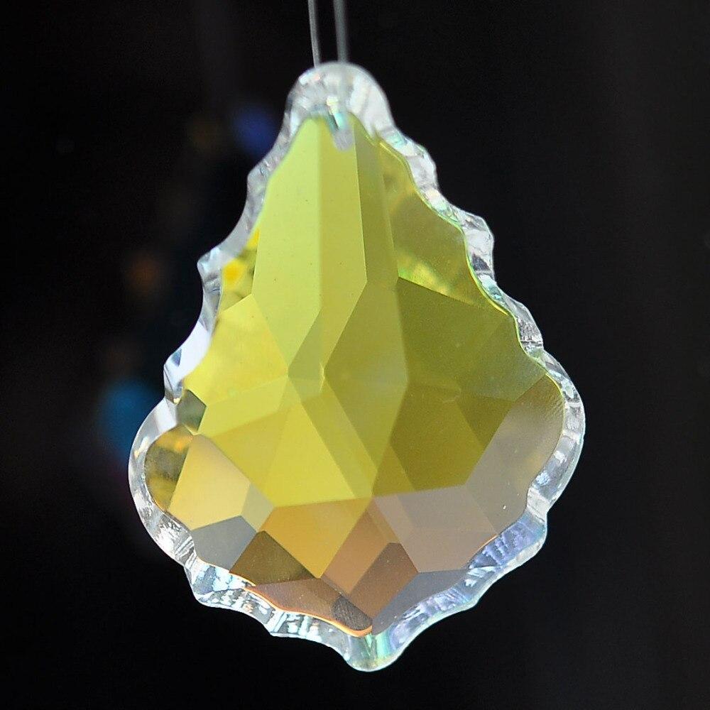 12pcs 38mm AAA Quality maple leaf Shape Ab faceted Crystal Chandelier ball b0c6b0efb49f
