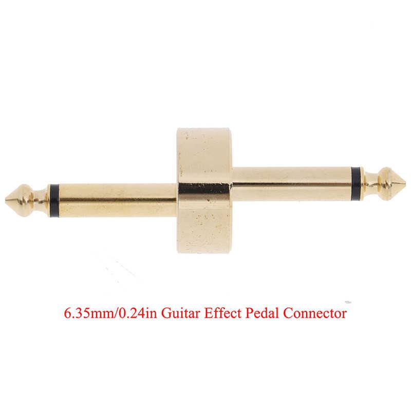1 قطعة الذهب Coulper جاك واجهة كابل محول دواسة كهربائية الملحقات مجلس Z-نوع الغيتار آثار موصل الدواسة