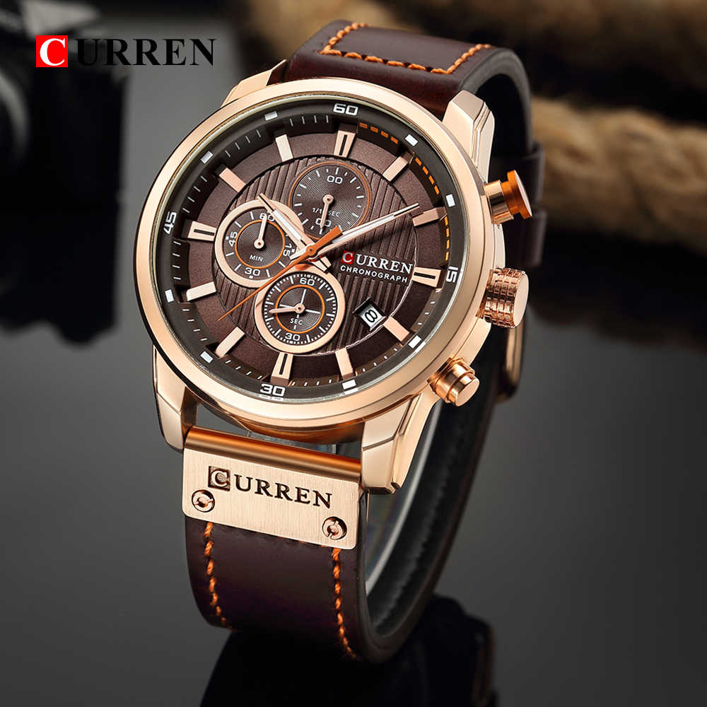 Reloj de cuarzo cronógrafo de lujo de primera marca, relojes deportivos para hombres, reloj de pulsera militar para hombres, reloj CURREN, reloj masculino