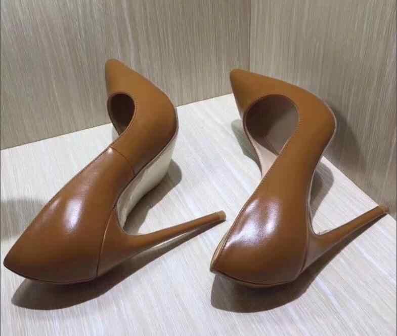 218d8e3868b7 Пикантная Брендовая обувь на шпильке женские туфли на высоком каблуке  Острый ...