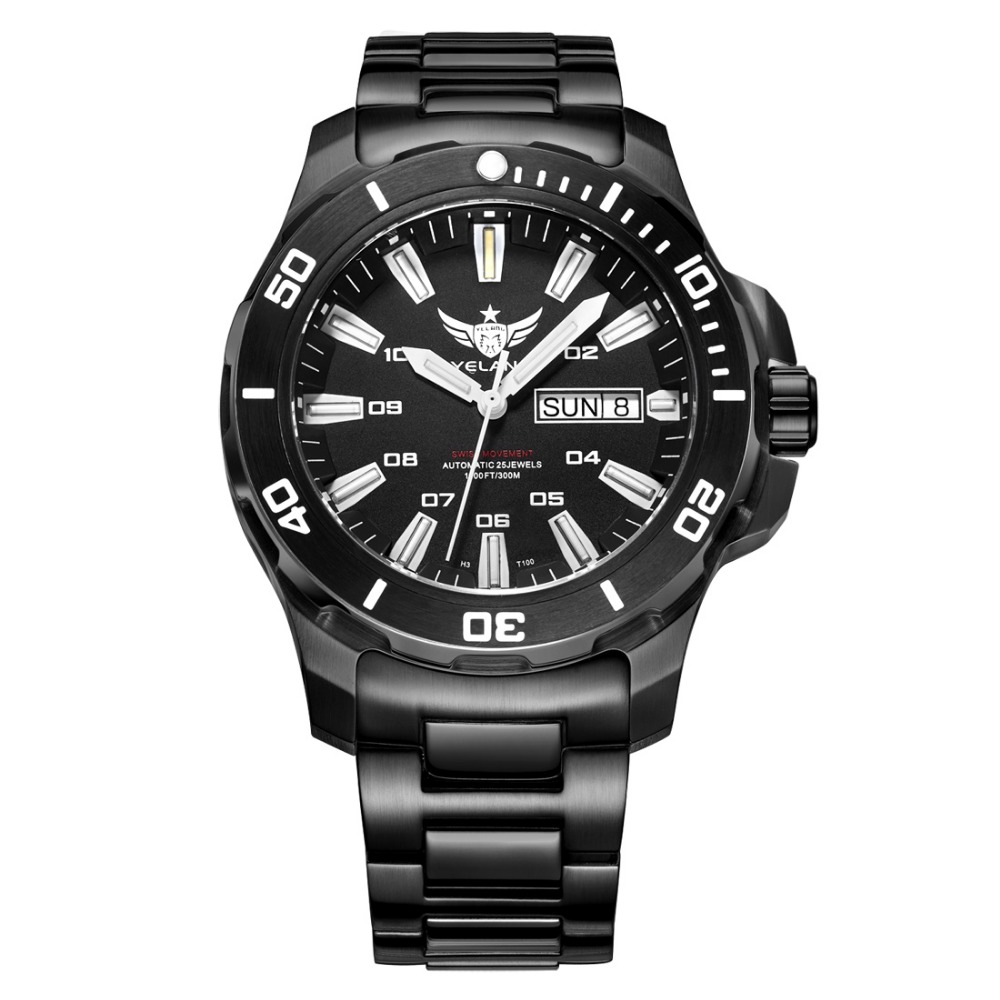 YELANG V5.1 KELPY Mens Diving 300m Waterproof T100 Tritium ...
