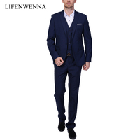 2015 New Style Men S Wedding Suits Fashion Business Slim One Buckle Slim Mens Dress Suit