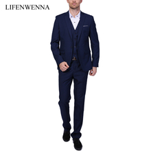 2019 New Men Suits One Buckle Brand Suits Jacket Formal Dress Men Suit Set Men Wedding
