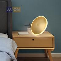 LED Nordic Iron Acryl Aluminum Minimalism Round Golden UFO LED Lamp.LED Light.Table Lamp.Desk Lamp.LED Desk Lamp For Bedroom